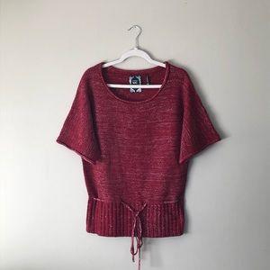 Yoki Collection Short Sleeve Knit Sweater